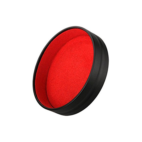 ewoop tapa de objetivo para Leica Q (Typ 116) lente/cuadrado campana, cámara frontal negro tapa del objetivo mejor protección lente Insider rojo franela