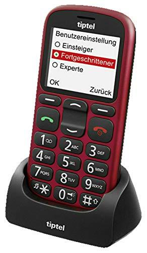 Tiptel Mobiltelefon Ergophone 6382 GSM red Mobiltelefon 4005579206347