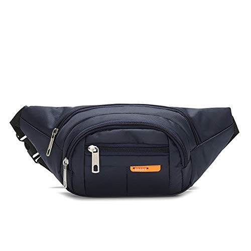 ZAICCI Riñonera Bolsa para Cinturón Deportivo Bolsa para Cinturón Soporte para Teléfono Teclas para Correr Trekking Fanny Pack (Azul Marino)