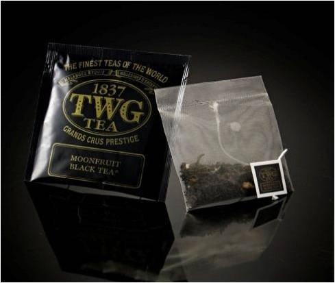 TWG Singapore - The Finest Teas of the World - MOONFRUIT Schwarz Tee - Hauptteil 100 Seide Teebeutel