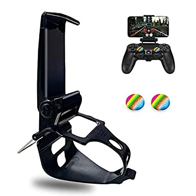 PS4 Controller Phone Clip Mount Holder, Phone Clip Stand Bracket for Playstation 4 Slim Pro PS4 Wireless Controller…
