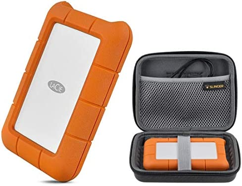 LaCie 5TB Rugged USB 3 0 Type C Portable External Hard Drive HHD STFR5000800 with Slinger Hard product image