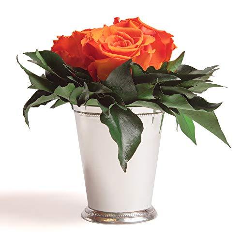 Composition Bouquet Roses Eternelles 3 Roses Conservées Durée de vie 3 ans ROSEMARIE SCHULZ® (Orange)