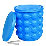 MUGLIO Ice Cube Trays Molds,Silicone Ice Bucket Space Saving Ice Genies Ice Ball Maker Portable Silicon Ice Cube Maker