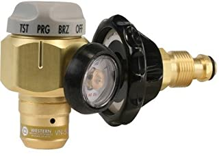 Western Enterprises VN-500 Flowmeter Nitrogen Purging Regulator w/500 PSI Test Pressure, BRASS