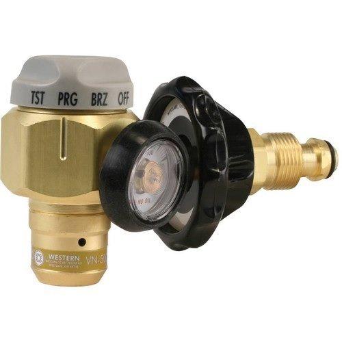 Western Enterprises VN-500 Flowmeter Nitrogen Purging Regulator w/500 PSI Test Pressure, BRASS