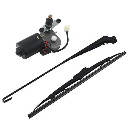 Tergicristalli elettrici UTV con rivestimento duro in policarbonato con motore tergicristallo da 12 V, per Polaris Ranger RZR 900 1000 Can Am