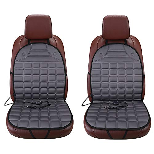 Mouchao Zone Tech Verdickung beheizter Autositz Heizung Stuhl Kissen Wärmer Cover 12V Pad grau