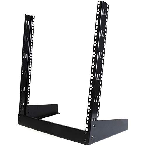 StarTech.com RK12OD - Rack Armario Bastidor Abierto de Escritorio Desktop Sobremesa de 2 Columnas 12U 0,5m Negro