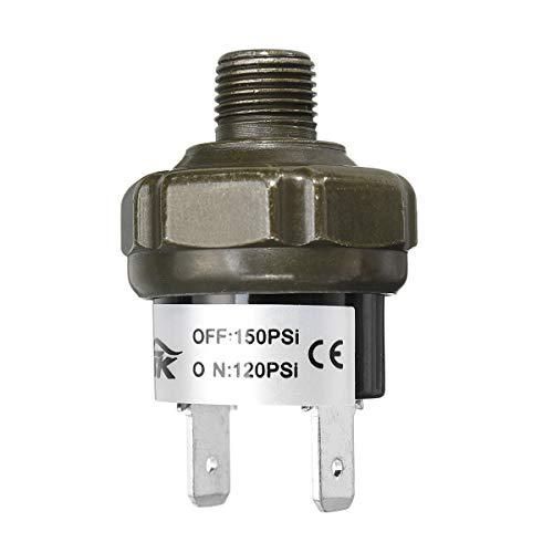 YONGYAO Npt1/8Inch Compresor De Válvula De Aire Interruptor De Control De Presión del Tanque 70 90 100 120 150 180Psi 12V -15
