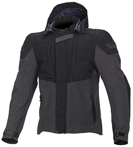 Macna Hoodini Textiljacke XL Schwarz/Grau