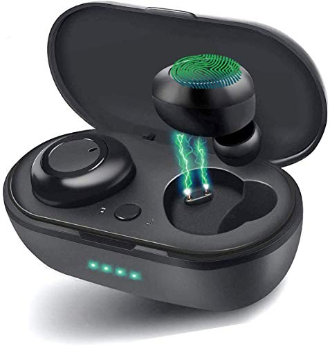 Auriculares Inalámbricos Bluetooth 5.0, In-Ear Auriculares,Micrófono Integrado,Carga con Cable USB,HiFi Calidad De...