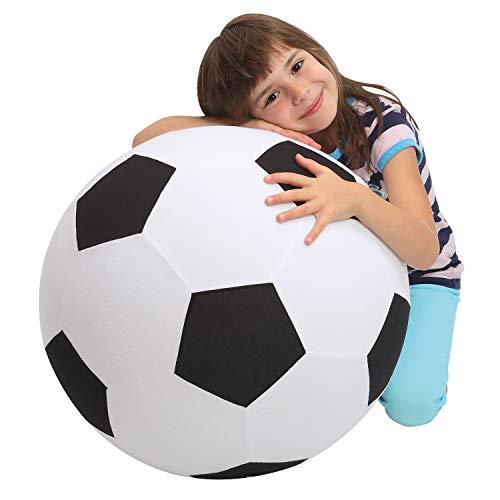 elasto form KG XXL Fußball Giant Spielzeug Dekoartikel Ø 50 cm aufblasbarer Ball groß Riesenfußball Spielball Fanartikel | Mit 2 Jahren Garantie