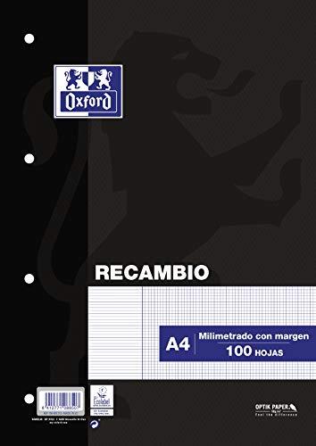 Oxford 100430212 - Recambios 100 hojas A4