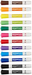 AmazonBasics Dry Erase White Board Markers - Assorted Colors