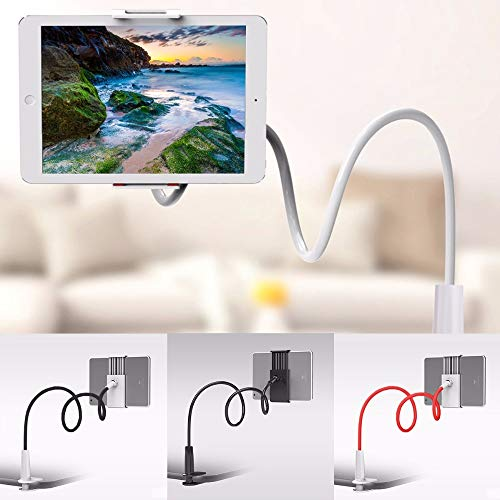 Telefoonhouder 360 Draaibaar Flexibel Lange arm Lui Telefoonhouder Klem Bed Tablet Auto Selfie Bevestigingsbeugel voor 4-10