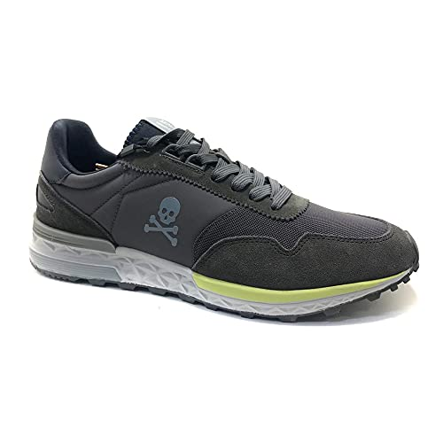 Scalpers Harry, Sneakers, para Hombre, Color Grey - Piel/Textil Talla: 44