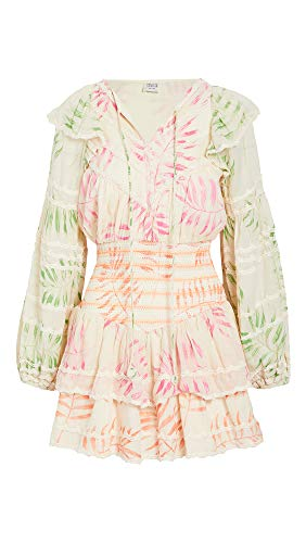 Hemant and Nandita Women's Dream Dress, Ecru, Print, X-Large