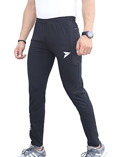 FITINC Gymwear Trackpant for Men with Two Zipper Pockets & Skin Friendly Dryfit Fabric