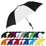 STROMBERGBRAND UMBRELLAS Spectrum Popular Style 15' Automatic Open Umbrella Light Weight Travel Folding Umbrella for Men and Women, (Black/white)