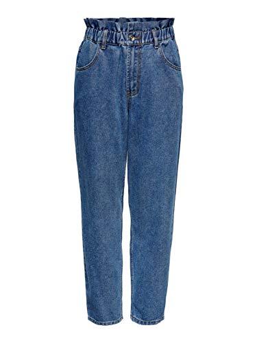 ONLY Female High Waist Jeans ONLOva Life Carrot S34Medium Blue Denim