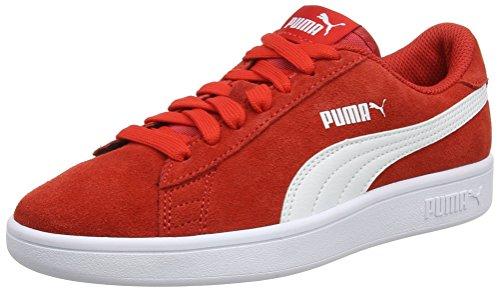 Puma Smash V2 SD Jr', Scarpe da Ginnastica Basse Unisex-Bambini, Rosso (High Risk Red White), 36 EU