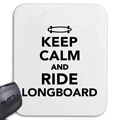 Helene Mousepad - Mauspad Keep Calm and Ride Longboard - Ruhe BEWAHREN - RUHIG BLEIBEN - Geschenk - GELASSENHEIT für ihren Laptop, Notebook oder Internet PC