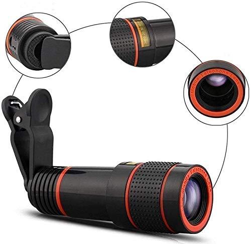 J-Love Kit Lentes cámara para teléfono Celular, telescopio monocular Universal, Lente teléfono móvil con Zoom teleobjetivo, Soporte para la mayoría teléfonos Inteligentes