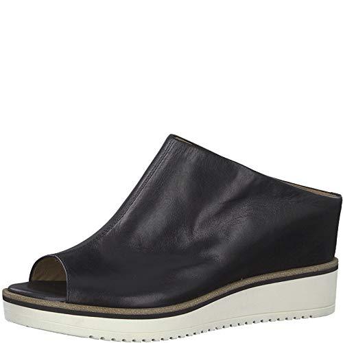 Tamaris 1-1-27200-22 Damen Pantoletten,Pantolette,Hausschuh,Pantoffel,Slipper,Slides,Touch-IT,Black Leather,40 EU