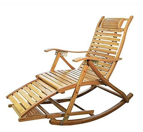 ZOUJIANGTAO Sillas de Camping Silla de jardín Silla Plegable Sillón de bambú Reclinador Plegable balcón Balcón Home Lounge Silla Ajustable
