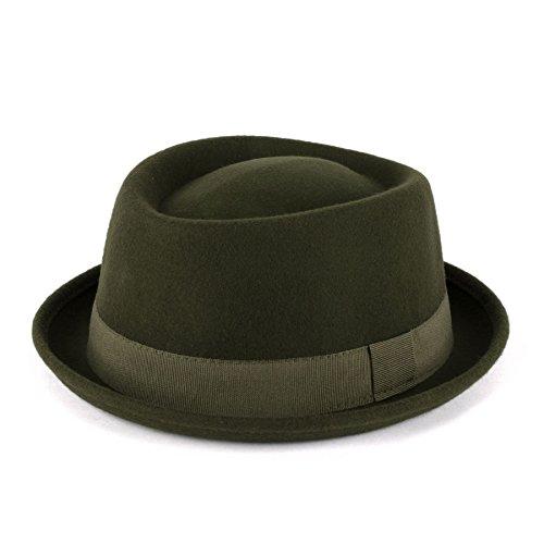 Hat To Socks Hat To Socks Wolle Pork Pie Hut mit Grosgrain Band handgefertigt in Italien