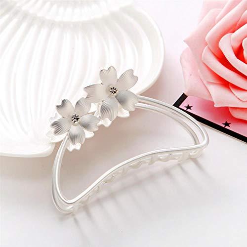 SELLA Big Flower Hair Claws for Women Hair Barrettes Hairpin Crab Metal Hair Claw Clips for Women Hair Accessories Headwear, 3