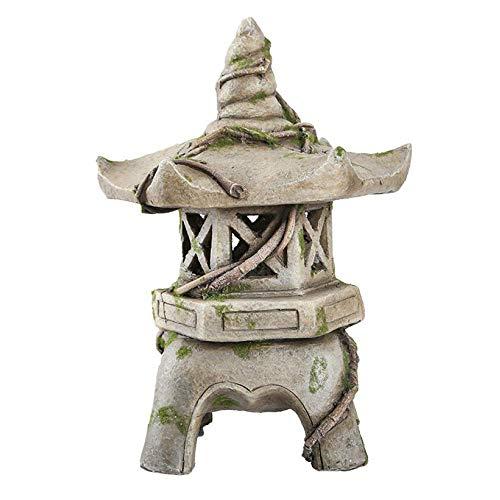 LIUSHI Ornamento del jardín de la decoración de la Estatua del jardín de la Pagoda Solar de la Linterna Japonesa asiática