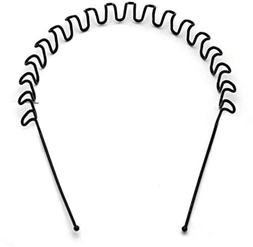 Haarbänder für Männer Frauen, Stirnbänder Schönheitspflege, Unisex, schwarz, gewellt, Federsport, für Herren, Haarreif, Hoop-Clips, Frauen-Zubehör, elastisch, rutschfest, Kopfbedeckung (1 Packung)