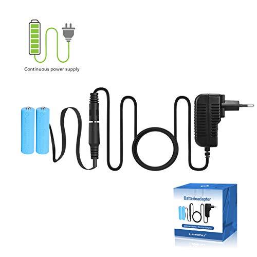 LANMU Netzteil Adapter Batterieadapter Zubehör für Fernbedienung/Lichterkette/LED Kerze/LED Timer/LED Bild (Batterieersatz für 2 AA Batterien, EU Stecker)