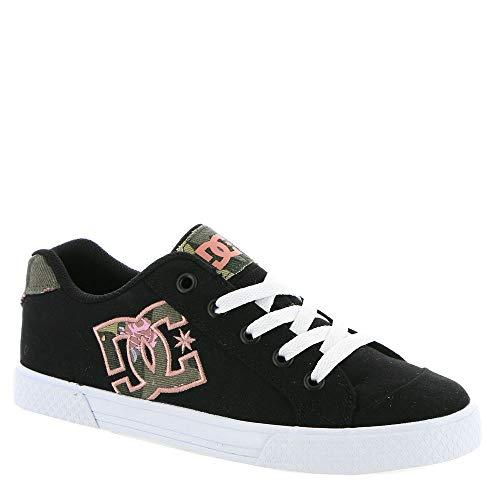 DC Women's Chelsea TX SE Skate Shoe, Black/Camo, 8.5 B M US