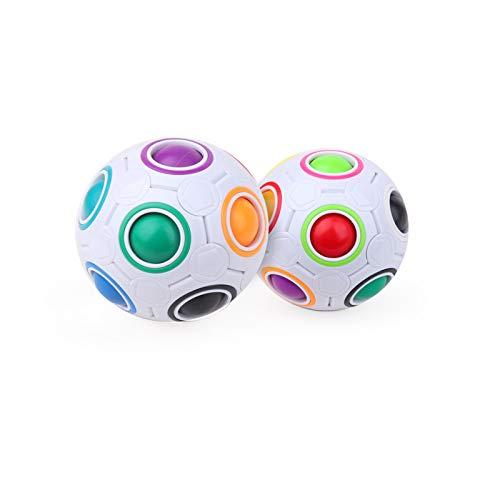 Fuyezio2 Pieza Puzzle Ball Magic Rainbow Ball, Juguete Educativo de Rompecabezas 3D Extremadamente desafiante Regalo de Laberinto, Adecuado para niños y Adultos