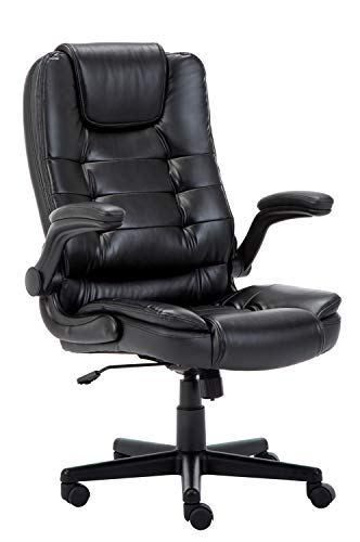 IntimaTe WM Heart High-Back Executive Office Chair, Faux Leather Large Seat...