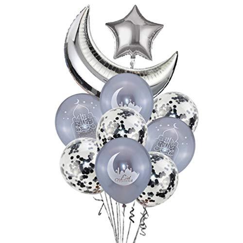 NUOBESTY 10 Pcs Eid Mubarak Ball...