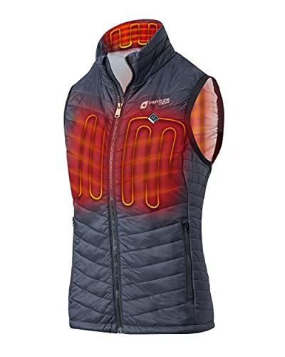 Venture Heat Women's Heated Vest with Battery Pack - 13 Watt High Powered Electric Insulated Puffer, Roam (S, Black)