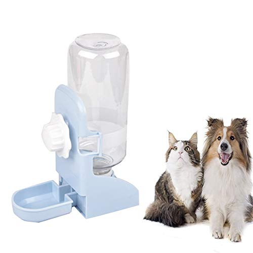 CCYY Haustier Automatischer Wasserspender, Futter und Wasserspender, Automatischer Futterspender, 500ml, Hängend Haustier Wasserspender, Für Hunde und Katzen, Meerschweinchen, Chinchillas, Kaninchen