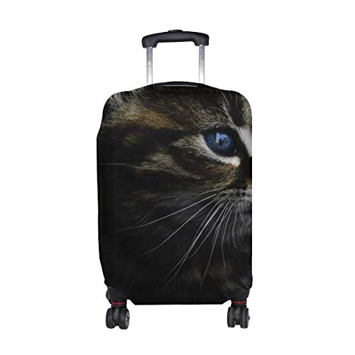 Kitten Muzzle Fluffy View Pattern Print Travel Luggage Protector Baggage Suitcase Cover Fits 18-21 Inch Luggage