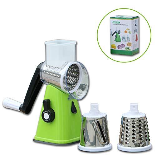 Masticating Juicer Vegetable Slicer, Food Chopper, Strongest-and-Heaviest Spiral Slicer, Best Veggie Pasta Spaghetti Maker for Low Carb/Paleo/Gluten-Free