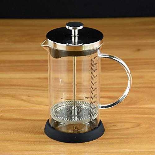 Liapianyun Kaffeebereiter/French Press, Mikro-Mesh-Kaffeemaschine Filter Gemahlenen Espresso Oder Tee Klares Starkes Borosilikatglas Tee Kaffee Mit Bonus 600 Ml,Clear