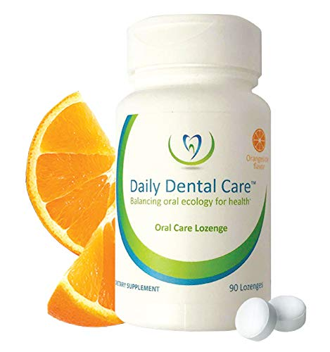 Daily Dental Care Lozenges, 90 Count – Prebiotic Mints Boosts Good Bacteria, Whole Mouth Health and Oral Hygiene – Bad Breath Treatment and Dry Mouth Relief for all the Family – Orangesicle