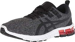 commercial ASICS Gel-Quantum 90, 11M, Dark Gray / Black mens running shoe for underpronation