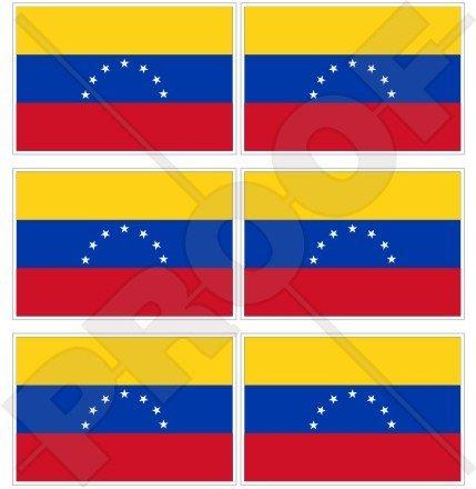 venezuela Drapeau ancien civile (7 Star). Venezuela Amérique du Sud 40 mm (40,6 cm) Téléphone Mobile Mini en vinyle autocollants, Stickers x6