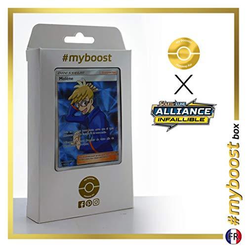 Molène (Molayne) 212/214 Full Art trainer - #myboost X Soleil & Lune 10 Alliance Infaillible - Doos met 10 Franse Pokemon kaarten
