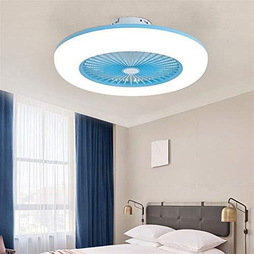 DULG Luz de techo LED con ventilador, 3 colores cambiables, luces de ventilador de techo con control remoto, velocidad y sincronización ajustables, lámpara de ventilador invisible Iluminación de venti