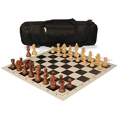 Pank Ajedrez de Madera, Juego de ajedrez portátil Exquisito de Alta Gama, 20.5 Pulgadas, con Mochila, para Adultos, niños, Juegos, Viajes, Salidas, Regalos (Color : Black, tamaño : 20.5inch)